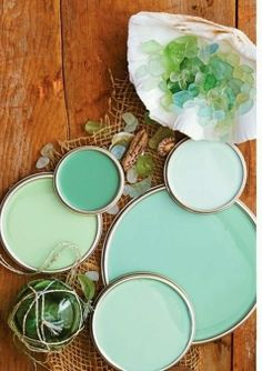 LilyGirl Jewelry: Mermaid March Sea Glass Colors, Aqua Glass, Paint Color Schemes, Beach Cottages, Better Homes And Gardens, My New Room, Home Design, Interior Design, Interior Colors