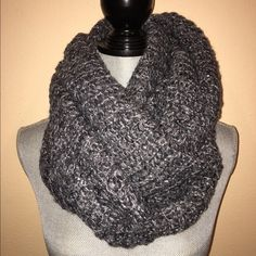 BNWT- H&M infinity scarf Beautiful scarf has sequence and sparkles all over, color is grayish/silver. Can be worn on single or double loop.  H&M Accessories Scarves & Wraps