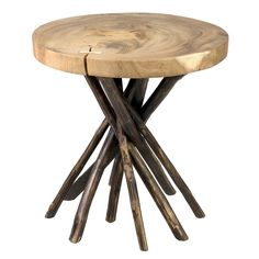 Millwood Pines | Erlandson End Table | Shop Home Decor | Art & Home  ||  The Erlandson End Table by Millwood Pines would become a delightful focal point in your home. From Art & Home's collection of fine End Tables. Wood Slab, Teak Wood, Painted Branches, Wood End Tables, Side Tables, Lift Top Coffee Table, Natural Wood Finish, Wood Tree, Tree Stump