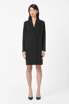 COS   Pleated collar silk dress