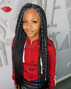 43 Cool Blonde Box Braids Hairstyles to Try - Hairstyles Trends Blonde Box Braids, Black Girl Braids, Braids For Black Hair, Girls Braids, Braids For Black Women Box, Cute Box Braids, Jumbo Box Braids, Half Braided Hairstyles, Box Braids Hairstyles