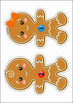 Christmas Preschool Centers. Gingerbread people candy counting. Supply children with pom-poms (or use candy pictures included).