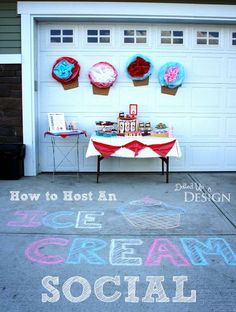 Ice Cream Social Party - How to host a summer party (great way to end the summer or to kick it off!