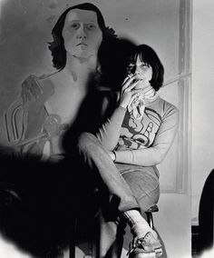 Maria Lassnig in her studio in New York, 1972