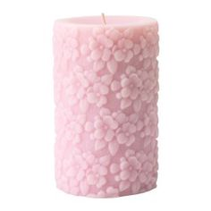 IKEA - FULLGOD, Scented block candle, A bright and balanced scent of lilies-of-the-valley, roses, green leaves and warm musk, like a bouquet of fresh flowers.The candle has the same beautiful color and pleasant scent during its entire burn time, beacause it is colored and scented through.