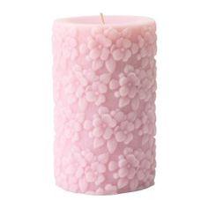 IKEA - FULLGOD, Bougie bloc parf, Un mélange enivrant de parfum de muguet, de rose, de feuillage et de musc, évoquant un bouquet de fleurs fraîchement coupées.La bougie conserve la même couleur et la même senteur pendant toute sa durée d'utilisation.