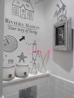 Riviera Maison muurtje voor de toilet