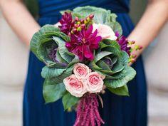 Wedding Flowers Ideas - Kale Flower Bouquet