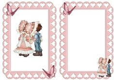 true love  in pretty heart frame with butterflies on Craftsuprint - View Now!