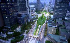 Gangnam Intermodal Transit Center Pavilion Design, Portfolio Images, Train Station, Shopping Mall, Modern Architecture, City Photo, Competition, Fair Grounds, University