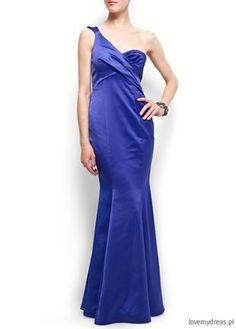 Suknia na jedno ramię, Mango 469 zł