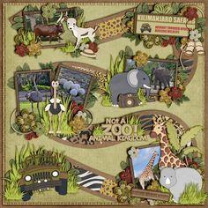 Animal Kingdom scrapbook layout #scrapbooklayouts