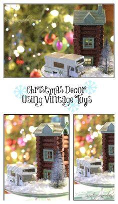 Christmas Decorating using Vintage Toys