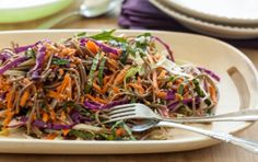 Rainbow Soba Salad can be prepared in 20 minutes, as a side dish, light meal, or packed for a delicious lunch.