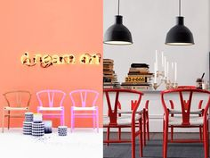 Hans J Wegner for Carl Hansen & Son colourful Wishbone Chairs in design shoots - Things That Made Me Smile This Year | Godard Girl : The Taxonomies of Design