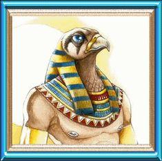 Horus é o Deus dos céus , muito embora sua concepção tenha ocorrido após a morte de Osíris . Hórus era filho de Osíris. Tinha cabeça de falcão e os olhos representavam o Sol e a Lua. Matou Seth, tanto por vingança pela morte do pai, Osíris, como pela disputa do comando do Egito.