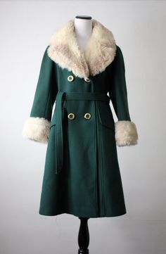 1960s forest green coat.
