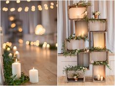 Candles | Fairy Lights | Wooden Crates | Wedding Inspiration | Wedding Ideas |
