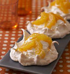 Photo de la recette : Pavlovas à l'orange