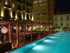 Park Hyatt Istanbul - Macka Palas' pool is spectacular, day or night. #Istanbul #Pool #Terrace