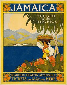 Jamaica, the gem of the tropics, Thomas Cook travel poster, 1910
