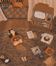 Sky Aesthetic, Aesthetic Movies, Aesthetic Anime, Anime Scenery Wallpaper, Cartoon Wallpaper, Herbst Bucket List, Arte 8 Bits, Chill Mood, Relaxing Gif