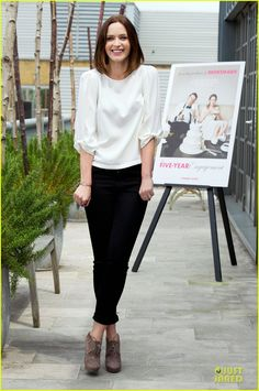 Emily Blunt in Michael Kors, Joe's Jeans and Jimmy Choo booties.  At the Five-Year Engagement Photo Call in London