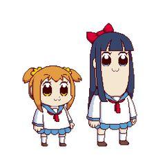 Pop Team Epic by on DeviantArt Manga Anime, Anime Art, Gifs, Anime Crossover, Art Et Illustration, League Of Legends, Kawaii Anime, My Hero Academia, Animated Gif