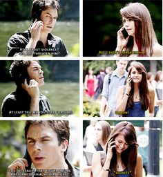 Damon and Elena. 5x02