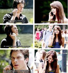 Damon and Elena. 5x02