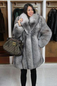 Cute Fox Fur Coat