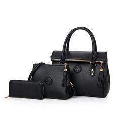 ce4a70c89774 Women Handbags Leather Handbag Women Messenger Bags Ladies Brand Designs  Bag Famous Bags Handbag+Purse+Messenger Bag 3Sets-4849