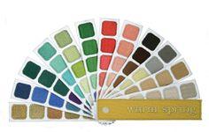 indigo tones warm spring color plume swatch book for warm spring color harmony