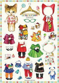 Paper doll/Paperdoll/uncle cat/unclecat/persian/dress/himalayan/paper