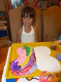 Preschool symmetry-butterfly. Paint one side then close the wings to print a replica on the other wing. Love this!