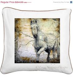 ON SALE Cushion pillow with color piping by EnzieShahmiriDesigns, $30.60