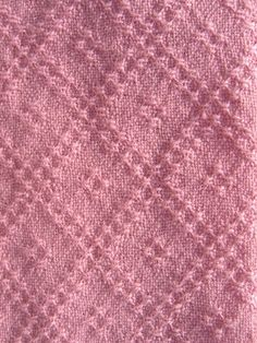 Tea Towel Handwoven Double Trellis in Rose - product image Bronson Lace