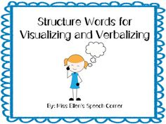 12 structure words with visual for visualizing and verbalizing