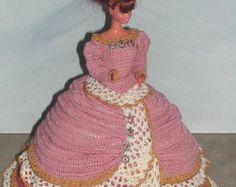 Crochet Fashion Doll Barbie Pattern 176 by JudysDollPatterns