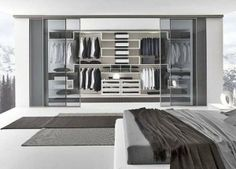 Walk-in Modern Closet Design ideas