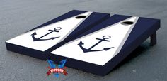 Anchor Cornhole Game Set Navy Blue Version