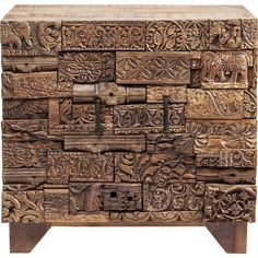 Puzzles, Low Sideboard, Buffet, Wood Wax, Door Shelves, Kare Design, Natural Materials, Wood Projects, Dresser