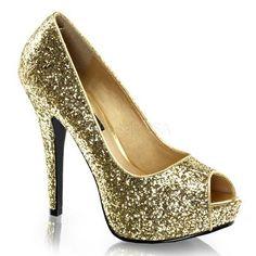 Platform Glitter Peep Toe Pump, 80's, New Wave - Gold $42.95 http://www.wildfree.com/prods/PZ-TWI18G-G.html #goldpump #goldglitterpump #platformpump #goldglitter #sexyheel #glitterheel #peeptoepump