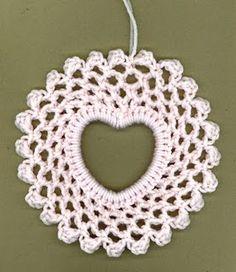 Another Sweet Heart doily (need a plastic heart bracelet) via #hooksandyarns