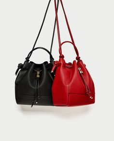 Image 1 of KNOTTED BUCKET BAG from Zara
