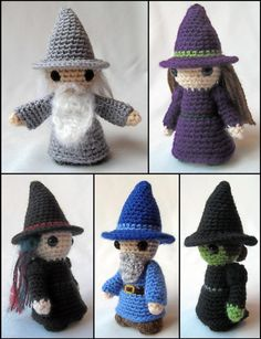 witch or wizard amigurumi stuffed animals - $4.00
