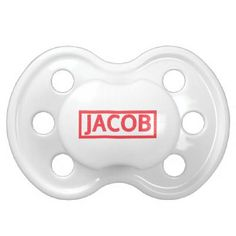 Jacob Stamp Baby Pacifier  #jacob http://names.stuffyouwillbuy.com #names #stamped #stamp