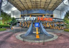Test track is actually the fastest ride at Walt Disney World. It tops off at speeds of 65 mph.