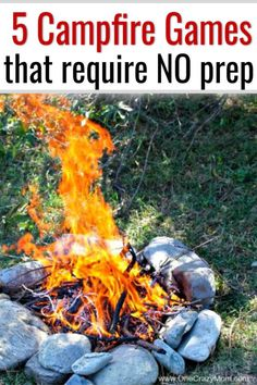 Here are some fun summer campfire games to play with the entire family. These bonfire games and fun camping activities for families are free and fun to play during your camping nights. These are also fun campfire games for adults or for groups. Try these campfire activities  for kids that require no prep! #camping #campinghacks #summer #onecrazymom #gamesforkids