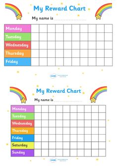Twinkl Resources >> My Reward Chart Rainbows >> Thousands of printable primary teaching resources for EYFS, KS1, KS2 and beyond! my reward chart, space, chart, reward, well done, certificate, well done, award, school, general, rainbow, space themed, rocket, astronaut, stars,
